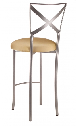 Simply X Barstool with Gold Stretch Knit Cushion (1)