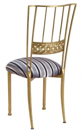 Gold Bella Braid with Charcoal Stripe Cushion (1)
