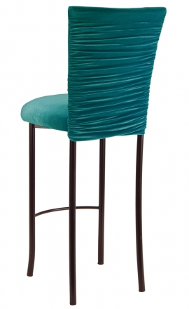 Turquoise Chloe on Brown Legs 1