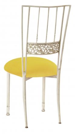 Ivory Bella Fleur with Sunshine Yellow Velvet Cushion (1)