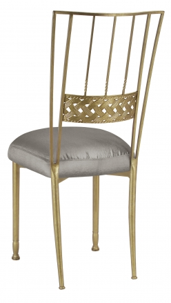Gold Bella Braid with Charcoal Taffeta Boxed Cushion (1)