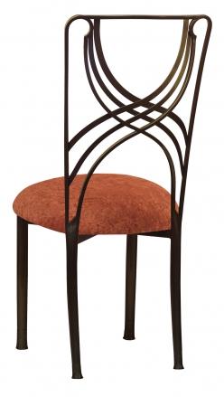 Bronze La Corde with Paprika Crushed Velvet Cushion (1)