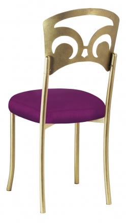 Gold Fleur de Lis with Orchid Velvet Cushion (1)
