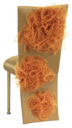 Gold Taffeta Jacket and Tulle Flowers with Boxed Cushion on Gold Legs (1)