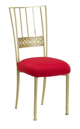 Gold Bella Braid with Red Stretch Knit Cushion (2)