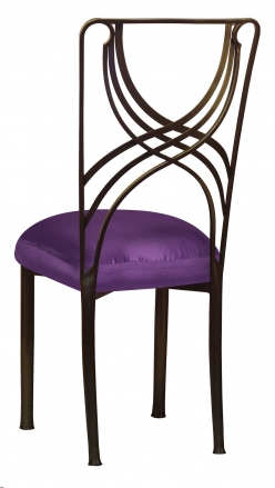 Bronze La Corde with Purple Taffeta Boxed Cushion (1)
