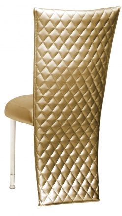 Gold Quilted Leatherette Jacket and Boxed Cushion on Ivory Legs (1)