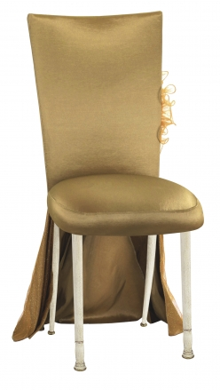 ... Gold Taffeta BET Dress with Boxed Cushion on Ivory Legs (2)  sc 1 st  Chameleon Chairs & Gold Taffeta BET Dress with Boxed Cushion on Ivory Legs - Chairs ...