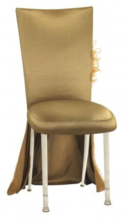 ... Gold Taffeta BET Dress with Boxed Cushion on Ivory Legs (2)  sc 1 st  Chameleon Chairs & Gold Taffeta BET Dress with Boxed Cushion on Ivory Legs - Chairs ...