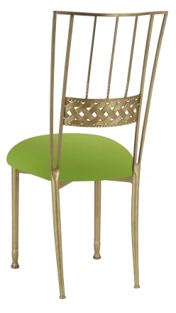 Gold Bella Braid with Lime Stretch Knit Cushion (1)