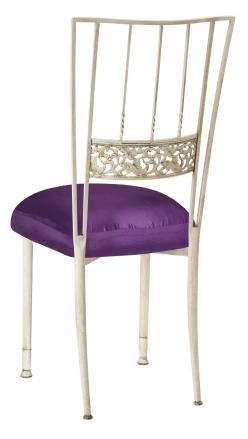 Ivory Bella Fleur with Purple Taffeta Boxed Cushion (1)