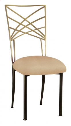 Two Tone Gold Fanfare with Beige Stretch Knit Cushion (2)