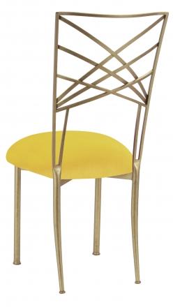 Gold Fanfare with Sunshine Yellow Velvet Cushion (1)