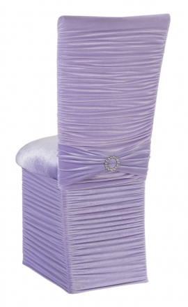 Chloe Lavender Velvet Chair Cover with Jewel Band, Cushion and Skirt (1)