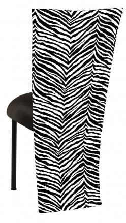 Black and White Zebra Jacket with Black Velvet Cushion on Black Legs (1)
