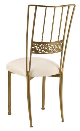 Gold Bella Fleur with Ivory Stretch Knit Cushion (1)