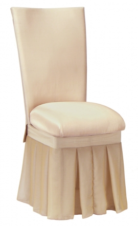 Champagne Dupioni with Champagne Bengaline Cushion and Champagne Chiffon Skirt (2)