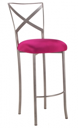 Simply X Barstool With Hot Pink Stretch Knit Cushion 2