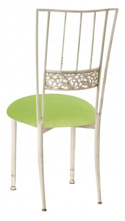 Ivory Bella Fleur with Lime Green Velvet Cushion (1)