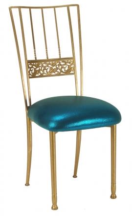 Gold Bella Fleur with Metallic Teal Cushion (2)