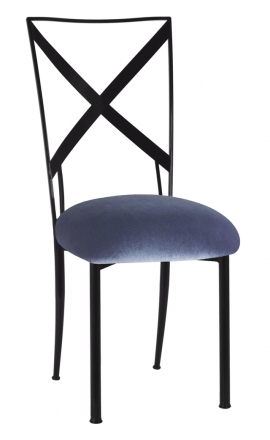 Blak. with Steel Velvet Cushion (2)