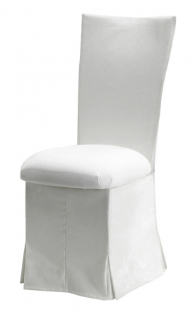 White Suede Chair Cover, Jewel Belt, Cushion and Skirt (2)