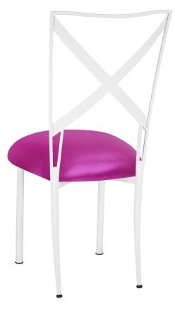 Simply X White with Metallic Fuchsia Knit Cushion (1)