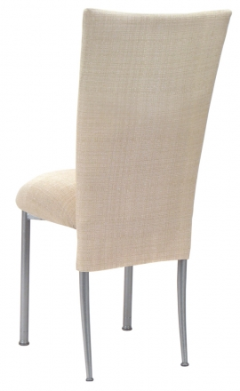 Parchment Linette Chair Cover and Cushion on Silver Legs (1)