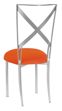 Simply X with Orange Velvet Cushion (1)