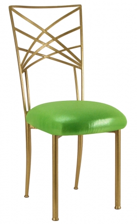 Gold Fanfare with Metallic Lime Cushion (2)