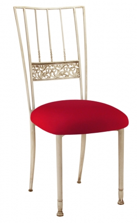 Ivory Bella Fleur with Red Stretch Knit Cushion (2)