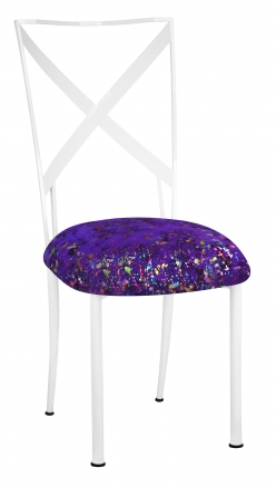 Simply X White with Purple Paint Splatter Cushion (2)