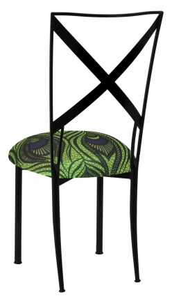Blak. with Green and Blue Peacock Knit Cushion (1)