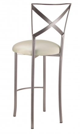 Simply X Barstool with Ivory Stretch Knit Cushion (1)