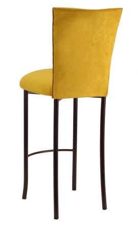 Canary Suede Cushion on Brown Legs (1)