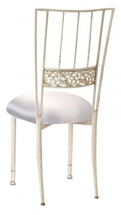 Ivory Bella Fleur with Platinum Satin Cushion (1)