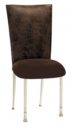 Durango Chocolate Leatherette with Chocolate Suede Cushion on Ivory Legs (2)