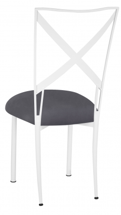 Simply X White with Charcoal Suede Cushion (1)