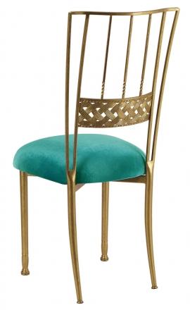 Gold Bella Braid with Turquoise Velvet Cushion (1)