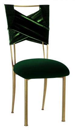 Green Velvet Sweetheart with Green Velvet Cushion on Gold Legs (2)