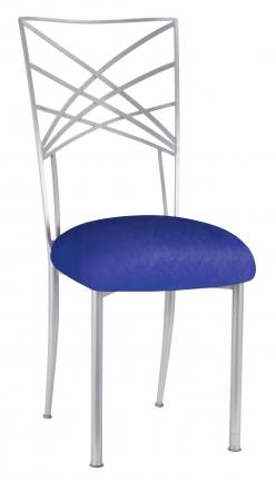 Silver Fanfare with Royal Blue Stretch Knit Cushion (2)