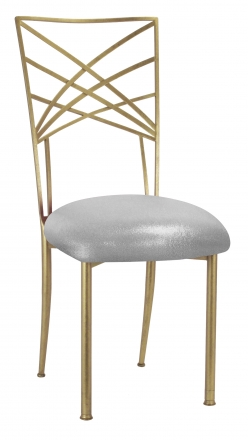 Gold Fanfare with Metallic Silver Stretch Knit Cushion (2)