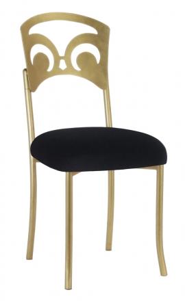 Gold Fleur de Lis with Black Velvet Cushion (2)
