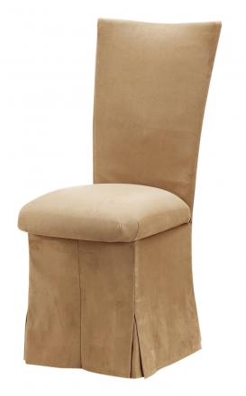 Camel Suede Chair Cover, Jewel Belt, Cushion and Skirt (2)
