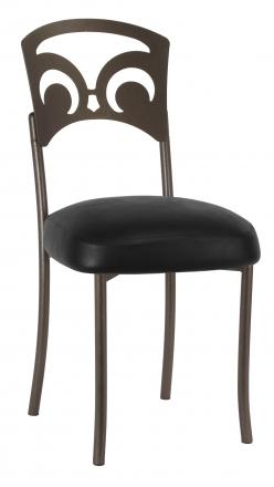 Bronze Fleur de Lis with Black Leatherette Boxed Cushion (2)