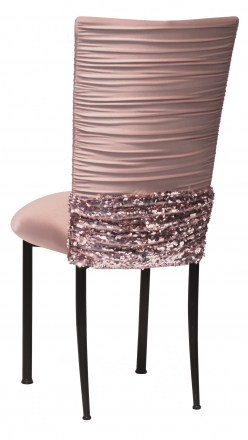 Chloe Blush with Bedazzle Band and Blush Stretch Knit Cushion on Black Legs (1)