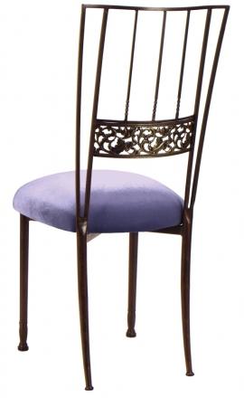 Mahogany Bella Fleur with Lavender Velvet Cushion (1)