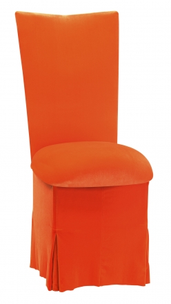 Orange Velvet Chair Cover, Cushion and Skirt (2)