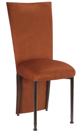 Cognac Suede Jacket and Cushion on Mahogany Legs (2)