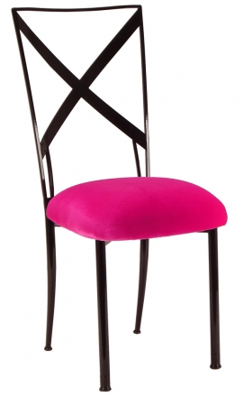 Blak. with Fuchsia Velvet Cushion (2)